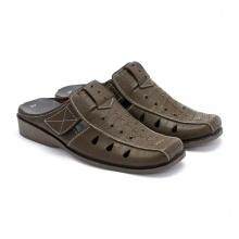 Giày sabo nam Huy Hoàng màu rêu  HV7126