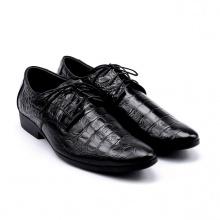 Giày nam vân cá sấu Huy Hoàng màu đen  HV7128