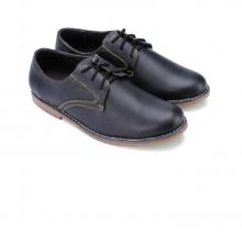 Giày nam thời trang Huy Hoàng  màu đen HV7160