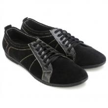 Giày thể thao Huy Hoàng đế xu cột dây màu đen  HV7748