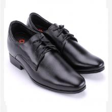Giày nam tăng chiều cao Huy Hoàng cột dây màu đen  HV7718