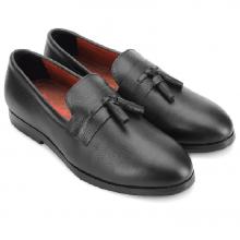 Giày nam Huy Hoàng thắt nơ màu đen HV7735
