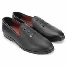 Giày nam Huy Hoàng đan 3 dây màu đen HV7736