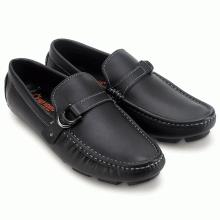 Giày mọi nam Huy Hoàng đế âm đính móc màu đen HV7770