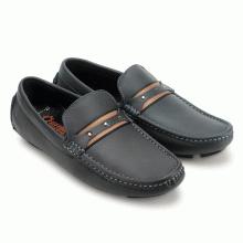 Giày mọi nam Huy Hoàng đế âm màu xanh đen  HV7773