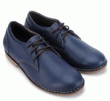 Giày mọi nam Huy Hoàng cao cấp cột dây màu xanh đen HV7775