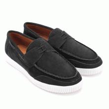 Giày mọi thể thao Huy Hoàng cột dây màu đen HV7740