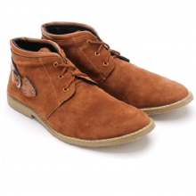 Giày nam Huy Hoàng cổ trung màu da HV7762