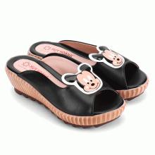 Giày nữ Huy Hoàng đính hoa màu đen HV7080