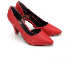 Giày nữ Huy Hoàng cao cấp xẻ hông màu đỏ HV7087