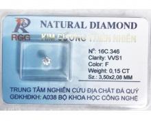 Kim cương tự nhiên 100% RGG 3ly6 - KC002