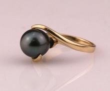 Nhẫn ngọc trai tự nhiên vàng 14k - NNU510