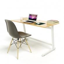 Bộ bàn Oak-Z vân gỗ sồi chân trắng và ghế Eames chân gỗ đen - IBIE