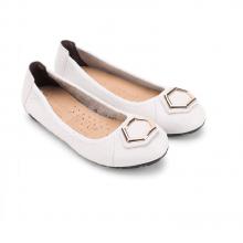 Giày nữ búp bê Huy Hoàng da bò màu trắng HV7913