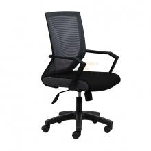 Ghế lưới văn phòng IB1012 chân nhựa đúc cao cấp màu đen