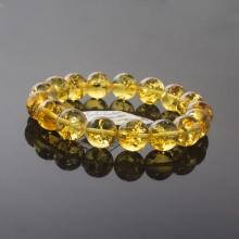 Vòng hổ phách Cognac Baltic vàng 12mm đặc biệt cao cấp - ABB20S12