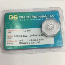 Đá kim cương nhân tạo hàng được kiểm định (7 li) - MDC800