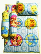 Bộ 4 món ga gối Sleep Baby - Zoo whith Love