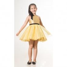 UN32 - đầm kim sa bé gái (vàng)