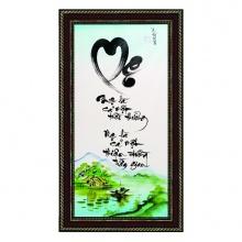 Tranh thư pháp vẽ tay chữ Mẹ TP_38x68_26 - Thế giới tranh đẹp