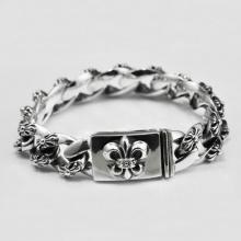 Lắc tay nam bạc Thái 925 size 21cm x 15mm