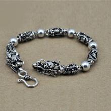 Lắc tay bạc nam đầu rồng - TSB68S188