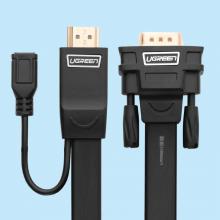 Cáp chuyển HDMI to VGA 2m cao cấp Ugreen 40231