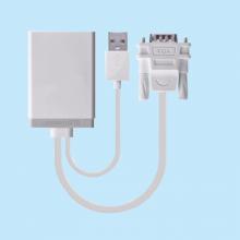 Cáp VGA to HDMI hỗ trợ âm thanh chính hãng Ugreen 40235 Full HD 1080p