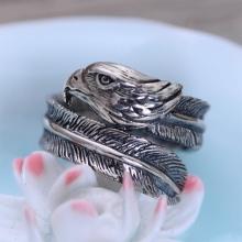 Nhẫn bạc nam đại bàng Hadosa size mở