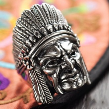 Nhẫn thổ dân bạc Thái 925 cho nam size 9