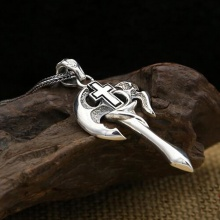 Mặt dây chuyền bạc Thái 925 handmade cho nam 3