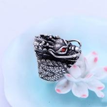 Nhẩn bạc nam rồng bạc Thái 925 handmade