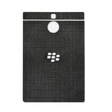 DTR - Dán lưng da BlackBerry Passport Silver vân cá sấu đen