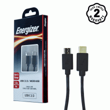 Cáp Type-C 2.0 to Micro-USB Energizer 1.2m màu đen - C11C2MCGBK4