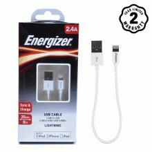 Cáp Lightning Energizer 20cm (White)