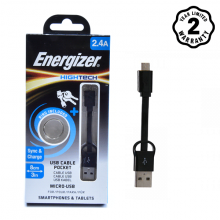 Cáp Micro USB Energizer Pocket 8cm (Black)