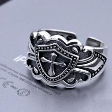 Nhẫn bạc nam Hadosa size 10