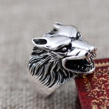 Nhẫn bạc nam đầu Sói