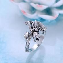 Nhẫn bạc nam kiểu Rồng
