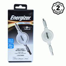 Cáp Rút Lightning Energizer 80cm (White)
