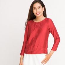 Áo cổ tròn tay dài Hity TOP058 (đỏ cabernet)