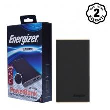 Pin sạc dự phòng Energizer 10.000mAh lõi Li-Po 2 cổng - Luxury Leather - UE10009 (Đen)
