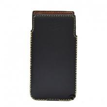 DTR- Bao da mộc BlackBerry KeyOne cầm tay vuông - màu đen)