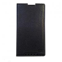 DTR - Bao da mộc Blackberry Priv gập ốp lưng màu đen