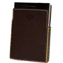 DTR - bao da mộc BlackBerry Passport dạng cầm tay vuông màu nâu đất