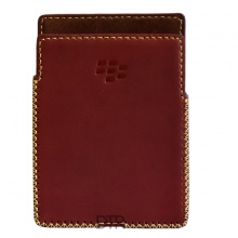 DTR - bao da mộc BlackBerry Passport dạng cầm tay vuông màu đỏ