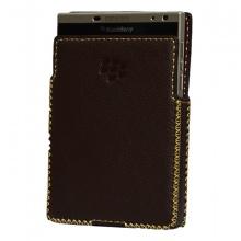 DTR - bao da mộc BlackBerry Passport Silver dạng cầm tay vuông màu nâu đất