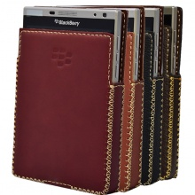 DTR - bao da mộc BlackBerry Passport Silver dạng cầm tay vuông màu đỏ