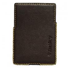DTR - bao da mộc BlackBerry Passport Silver dạng cầm tay vuông màu đen