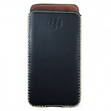 DTR - Bao da mộc BlackBerry DTek50 dạng cầm tay vuông màu đen